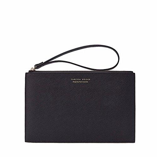 Die neue Tasche Handtasche mode Freizeit Tasche Umschläge Handtasche, Hellblau Black