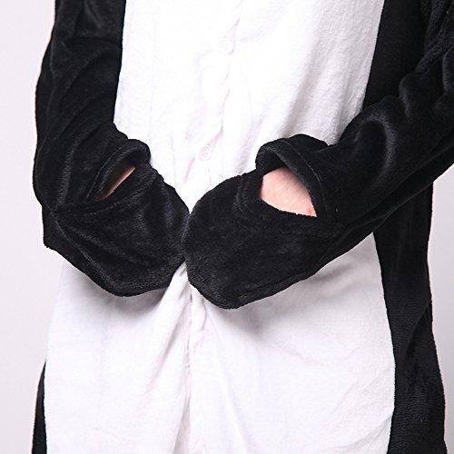 LATH.PIN® Kostüm Sleepsuit Cosplay Fleece-Overall Pyjama Schlafanzug Erwachsene Unisex Pinguin