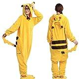 CMF Damen oder Herren Kostüm Pikachu Overall Pyjama Karneval
