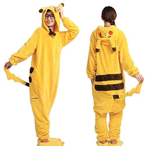 stüm Pokemon Pikachu Overall Pyjama Karneval (Pikachu-kostüme)