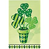Double Sided Decorative Custom Flag Happy St.Patrick'S Day Fade And Mildew Resistant Waterproof Garden Flags 12.5 X 18 Inch 100% Polyester Banner