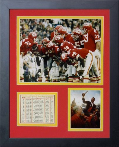 Legenden Sterben Nie 1969Kansas City Chiefs Huddle gerahmtes Foto Collage, 11von 35,6cm von Legends Never Die