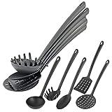 Küchenhelfer Küchenwerkzeug 5-tlg. Set mit Schöpfkelle Pfannenwender Servierlöffel