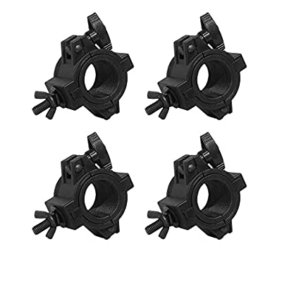 4 x CHAUVET CLP-10 CLP10 HALF COUPLER DJ LIGHTING FIXTURE CLAMP WITH INSERTS