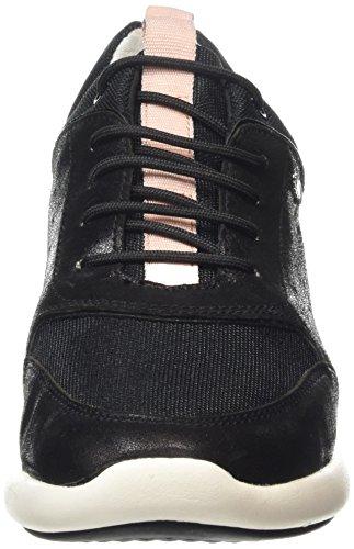 Geox Damen D Ophira B Sneakers Schwarz (Blackc9999)