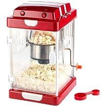 Rosenstein & Söhne Popkornmaschine: Retro-Popcorn-Maschine Movie im 50er-Stil zum Popcorn-Selbermachen (Popcorn machine)