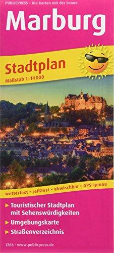 Marburg: Touristischer Stadtplan mit Sehenswürdigkeiten und Straßenverzeichnis. 1:14000 (Stadtplan / SP)