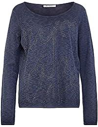 MONARI 802614 783 Damen Pullover mit Schriftzug aus Steinchen Normale  Passform 6f70612fa1