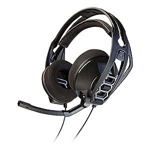 Ausinės Kopfbügel Plantronics RIG 500HS mit Mikrofon ohrumschließend mit Verbindung Kabel Jack 3,5-Farbe Schwarz