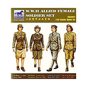 Unbekannt Bronco Models cb35037-Figuras W.W. II Allied Female Soldier Juego 4