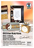Ursus 62134699–Glitter Carton Exclusive DIN A4, 330g/m², 5Feuilles en 5Couleurs Assorties