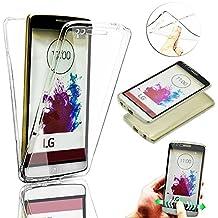 Vandot para LG G4s (LG G4 Beat)| Funda Carcasa Protectora 360 Grados | TPU en Transparente | Full Body Protección Completa Doble Tapa Delantera + Trasera Silicona Gel Smart Case Cover para Smartphone Móvil LG G4s / G4 Beat - Blanco