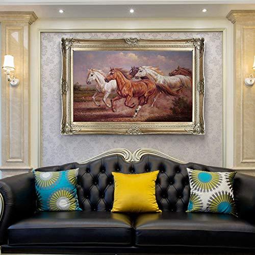 tzxdbh Running Horse Animal Modernes Gedrucktes Ölgemälde Auf Leinwand Wandgemälde Bild Für Wohnzimmer Wandkunst Wand-dekor -