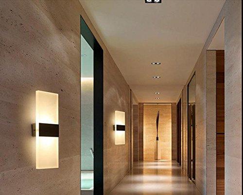 Tobbiheim lampada da parete a led w acrilico applique dal