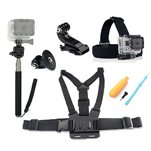 fahion-eshop-4-in1-ultimate-gopro-accessories-pack-head-chest-strap-monopod-yellow-hand-grip-floatin