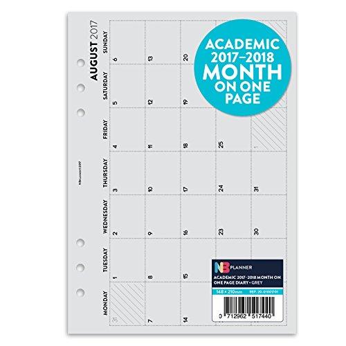 academic-2017-2018-mois-sur-une-page-planner-recharge-insert-english-filofax-a5-compatible-gris