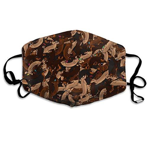 Daawqee Mund Maske, Sausage Dog Graphic Unisex Fashion Anti Staub Schutzhülle Washable Safety 100% Polyester Comfortable Breathable Health Half Face Masks (Lackierer Maschine)