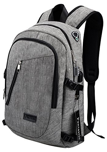 magic-zone-business-water-resistant-polyester-laptop-backpack-with-usb-charging-port-headphone-port-