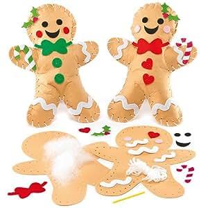 Cuscinetti omino di pan di zenzero natalizi in feltro da for Amazon oggettistica