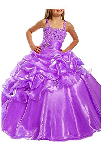 Huifany Mädchen Ballon Kleid Gr. Benutzerdefinierte, Pruple