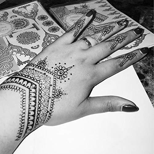 Tatuajes temporales de mandalas para hombre y mujer, con tatuaje temporal, 21 x 15 cm