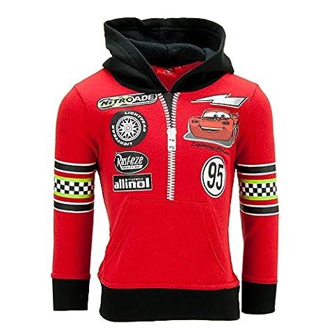 Dress-O-Mat Jungen Sweatpullover Pullover Jacke Hoodie Cars Gr 116 6 J rot (Jacke Cars)