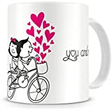 Printhaat Celebrate Love And Togetherness, You And Me Forever In Love Coffee Mug Gift :: Designed With Love Especially For Valentines Day To Express Your Love For Somebody :: A Sweet Gift For Your Girlfriend Or Boyfriend :: Anniversary Gift For Wife Or Hu
