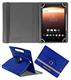 Acm Rotating Leather Flip Case for Alcatel A3 10 Tablet Cover Stand Dark