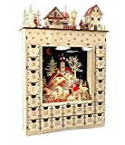 "small foot Holz ""Wintertraum"" Adventskalender, Natur, 34 x 7.5 x 52 cm"