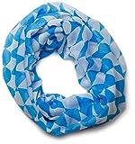 styleBREAKER Bayerischer Rauten Muster Loop Schlauchschal / Dirndl und Trachten Tuch (Blau-Weiß)