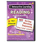 Interactive Learning Software: Reading Fiction and Nonfiction, Grade 4, Sold as 1 Each