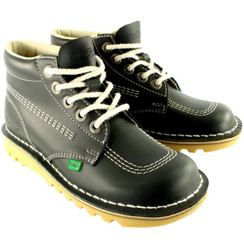 Womens Kickers Kick Hi Classic Leather Office Work Ankle Boots Shoes UK...
