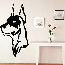 decorrooms habitación decoración de la pared vinilo adhesivo Mural de vinilo patrón perro raza Doberman Animal Cool Puppy–Póster de perro Naughty adhesivo