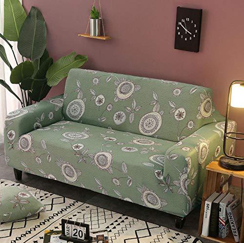 NHFGJ Funda para sofá elástica Antideslizante Impresión Todo Incluido 1/2/3/4 plazas Protector...