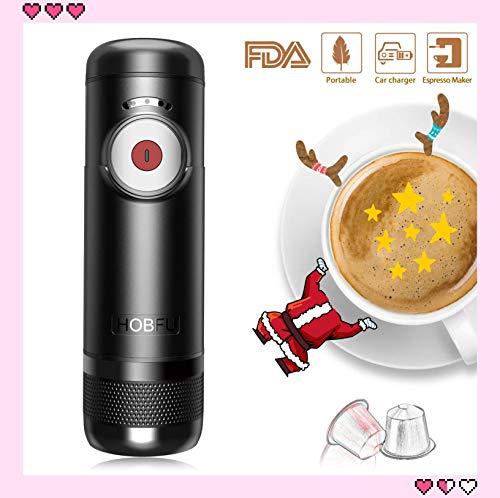 Macchina automatica per caffè espresso portatile, acqua, 15 bar, pressione, azionamento a pulsante, macchina da caffè all'aperto da viaggio