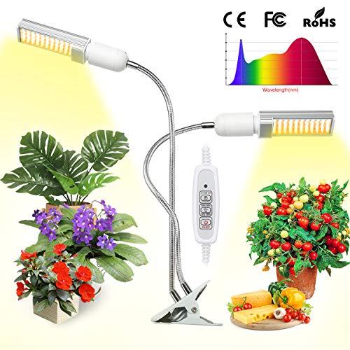 Elfeland LED Pflanzenlampe Pflanzenlicht Pflanzenleuchte 88 Leds Wachstumslampe mit Zeitfunktion, 4 Heillgkeitsstufen Wachsen licht E27 Pflanzenlichter für Zimmerpflanzen Gartenarbeit Gewächshaus