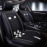ZD Pvc Leder Universal Autositzbezüge Full Set Sitzbezüge , white
