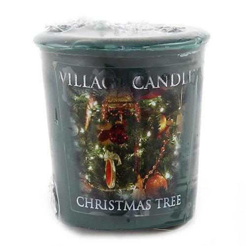 Village Candle Vela Votiva con Aroma Árbol de Navidad, Cera, Verde, 5.3x5.2x5.5 cm
