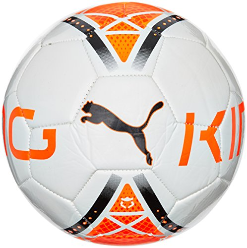 PUMA Ball King Graphic - Balón de fútbol de ocio, color blanco, talla 5
