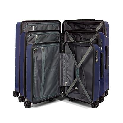 MasterGear-Polypropylen-Koffer-S-M-L-Koffer-Set-mit-4-Rollen-360-Grad-Trolley-Reisekoffer-TSA-stapelbar