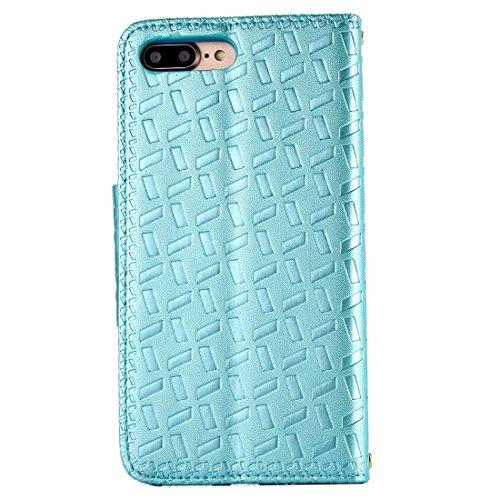 iPhone Case Cover Pour iPhone 7 Bowknot Embossing Horizontale Flip étui en cuir avec Holder & Card Slots & Wallet ( Color : Gold ) Blue
