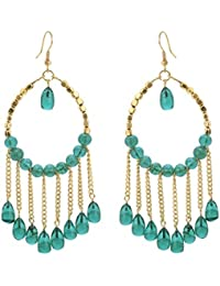 Zephyrr Jewellery Earrings Lightweight Gold Tone Beaded Hook Earrings For Women And Girls