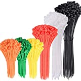 AUSTOR 600 Stück Kabelbinder Sortiment Bunt Größe 4