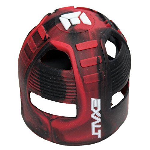 Exalt Paintball Tank Grip - 45-88ci - Red / Black Swirl by Exalt