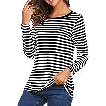 77148e16c6fd3 Amazon.es  camiseta mujer rayas negras y blancas