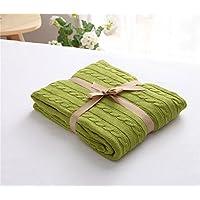 MZMZ-cotone lavorato a maglia coperta coperte di lana, aria condizionata Divano coperta baby coperta di cotone,frutto verde,120*180cm