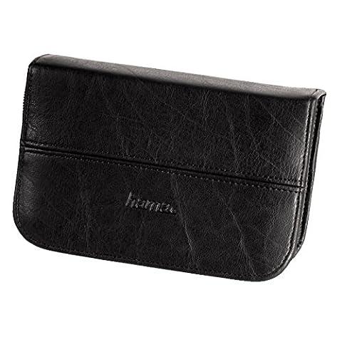 Hama Speicherkarten-Tasche für 4 Speichermedien, 4 Batterien, 3 Adapter, Schwarz,