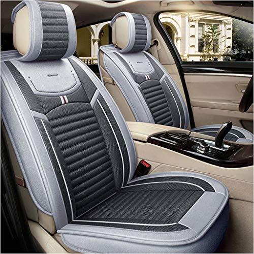 und Hinten 5-Sitzer-Komplettset Universal Linen Four Seasons Pad-kompatibler Airbag-Sitzschutz (Color : Smoke Gray) ()