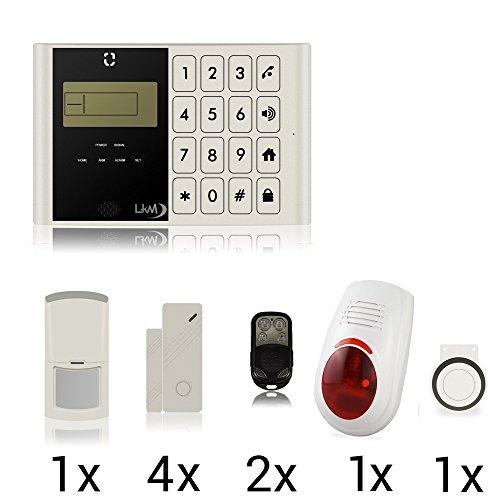 systemeng® Kit Alarme Maison Boutique Garage camping-car taxe Rouleau GSM sans fil avec sirène extérieure sans fil