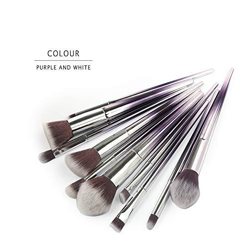Eaylis 10Pcs Maquillage Base Sourcils Eyeliner Blush Pinceaux CosméTiques Anticernes Cheveux En Nylon Yeux Fond De Teint Real Techniques Highlighter